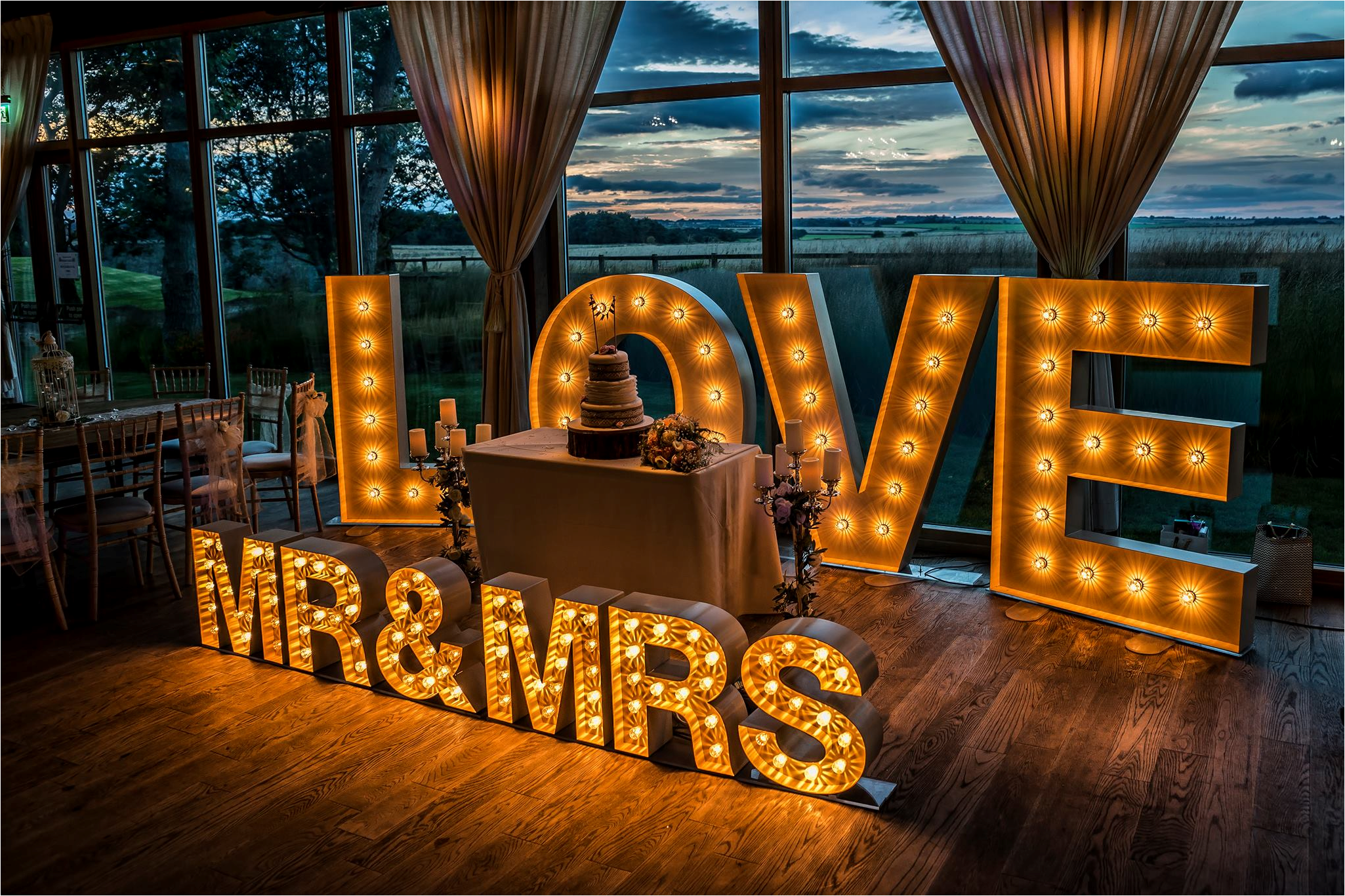 Illuminated Letter For Hire Weddings Proms Parties
