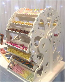 PartyPics Candy Ferris Wheel Hire And Wedding Post Box Hire