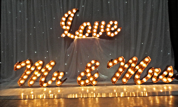 light up letters hire newcastle illuminated letter for hire weddings proms 10989